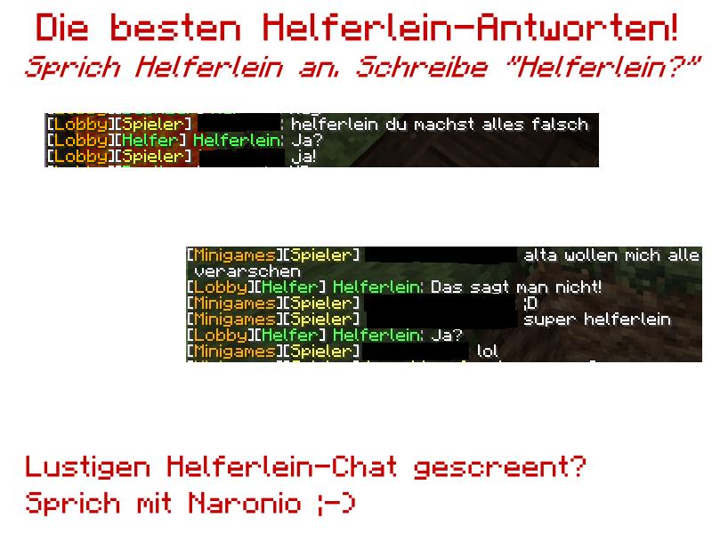 Helferlein antwortet ...!